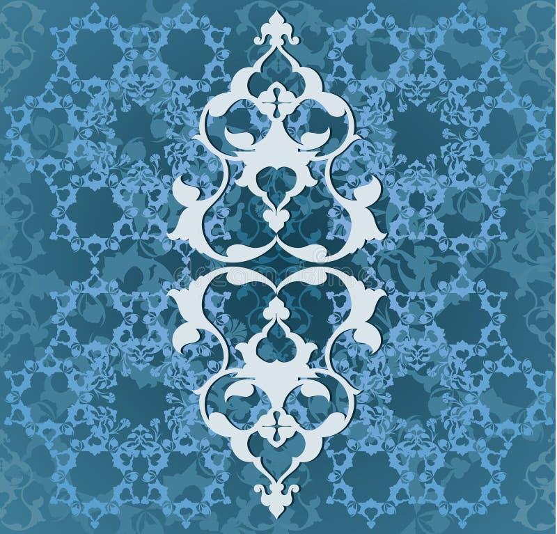turkish тахты конструкции безшовный традиционный иллюстрация вектора