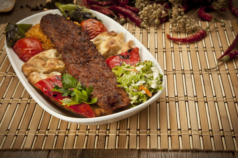 Turkish Adana Kebab. Stock image stock photography