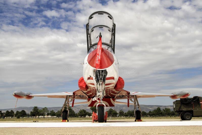 Turkish Air Force Turkish Stars F5 royalty free stock photography