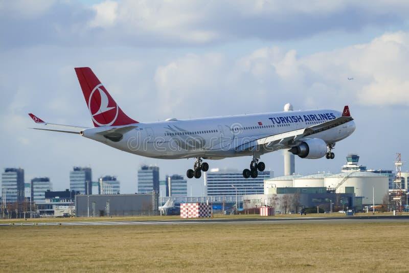 Turkish Airlines Airbus A330 fotografia de stock