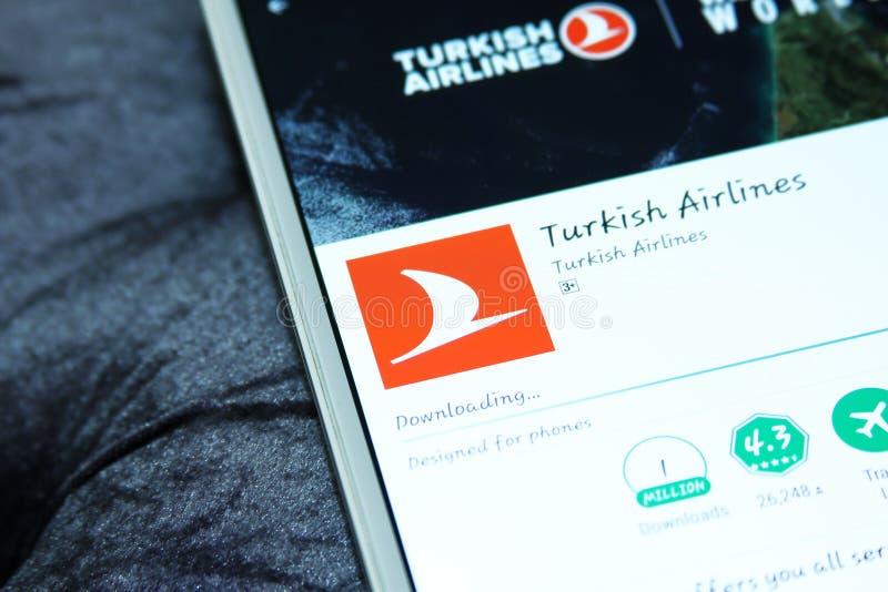 Turkish Airlines app móvil fotografía de archivo