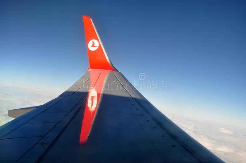 Turkish Airlines beflügeln stockbilder