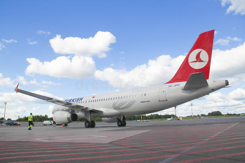 Turkish Airlines Boeing fotos de stock