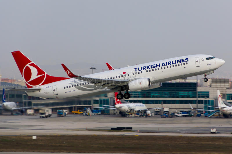 Turkish Airlines Boeing 737-800 stock afbeelding