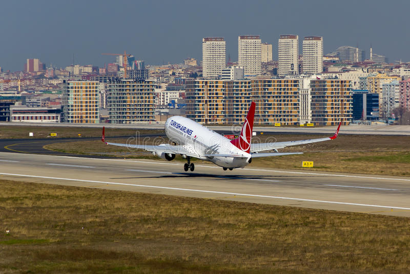 Turkish Airlines Boeing 737 stock afbeeldingen