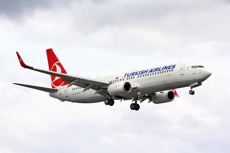 Turkish Airlines Boeing 737 stock image