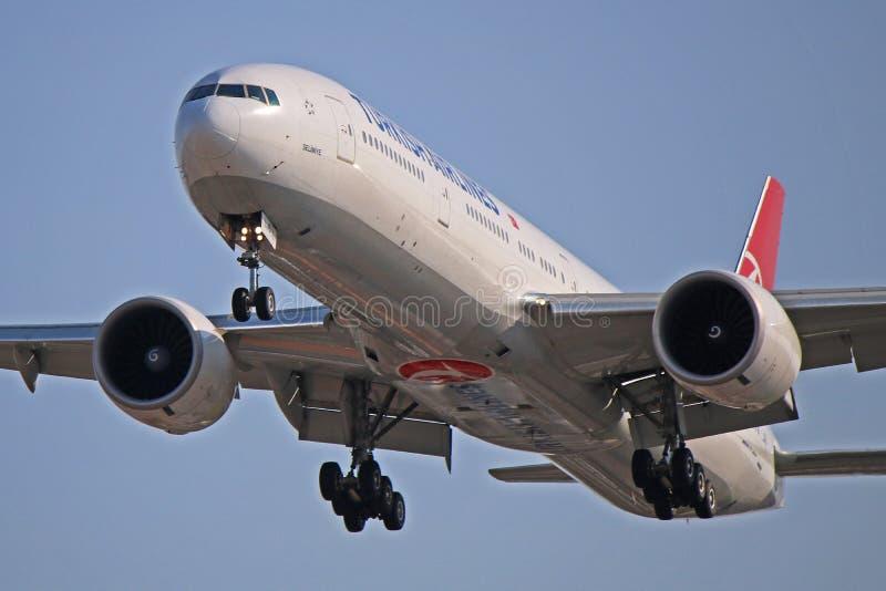 Turkish Airlines Boeing 777-300ER tc-LJD stock afbeeldingen