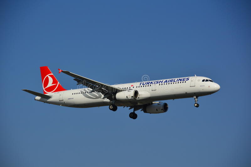Turkish Airlines hebluje obrazy stock