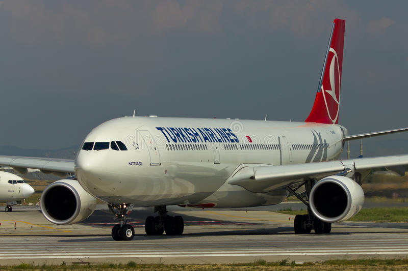 Turkish Airlines-Luchtbus A330 stock fotografie