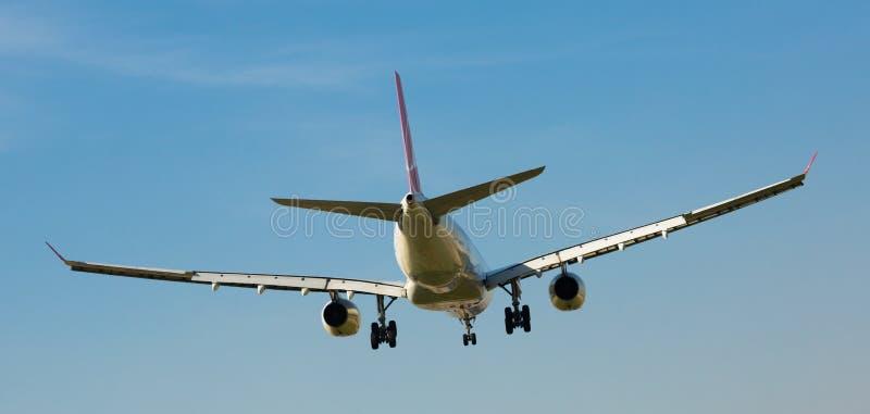Turkish Airlines samolotu lądowanie zdjęcie royalty free