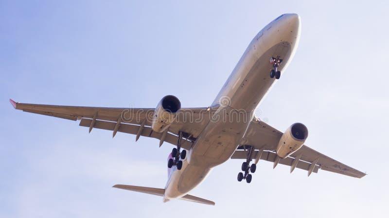 Turkish Airlines samolotu lądowanie obrazy royalty free