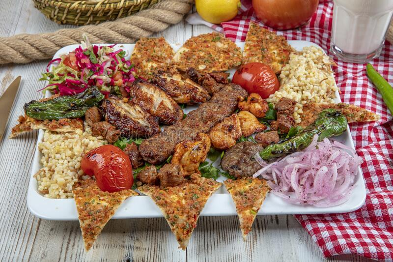 Mixed Kebab Plate Grilled Plate Mix Assortment Meat Stock Photo Image Of Grill Barbeque 172503978