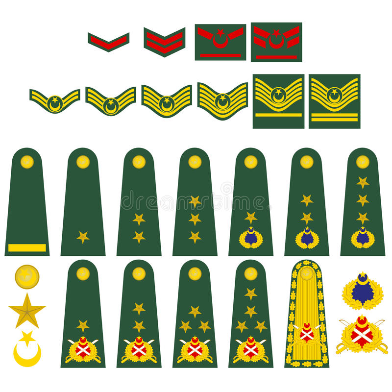 Download Turkish army insignia stock vector. Image of icon, white - 27329261