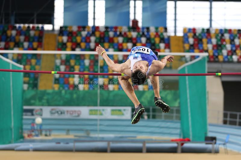 Turkish Athletic Federation Indoor Athletics Record Attempt Race royalty free stock images