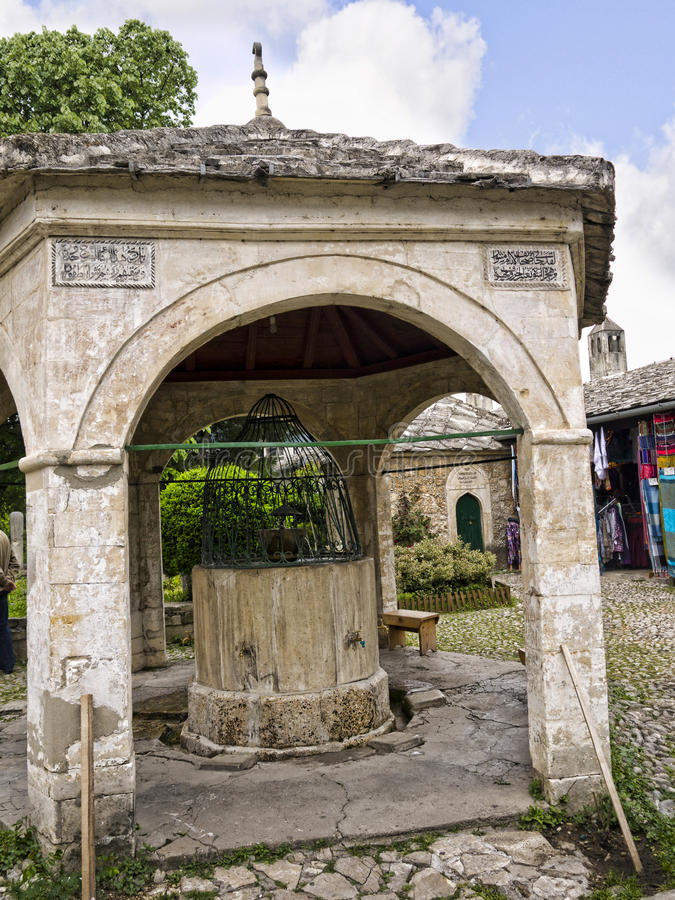 Turkish bath at mosque in Mostar in Bosnia and Herzegovina is the most important city in the Herzegovina region. stock image