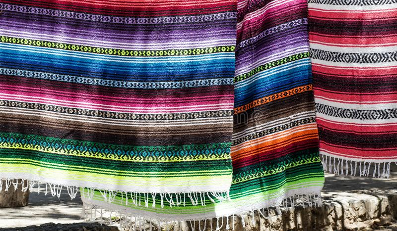 Turkish bath towels are sold in Grand Bazaar, Istanbul,Turkey. hanging royalty free stock images