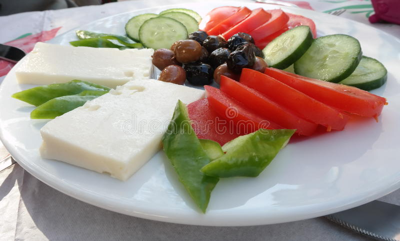 Turkish breakfast. Traditional and delicious Turkish breakfast plate stock images