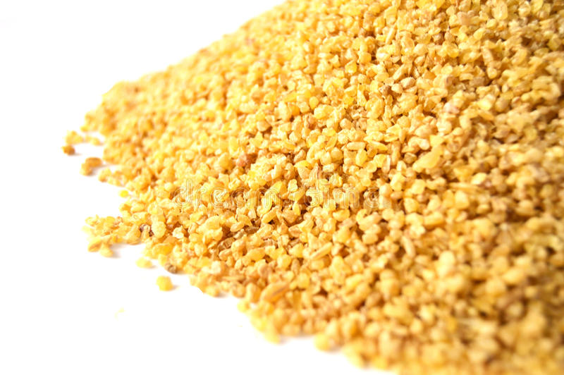 Turkish bulgur pictures for yellow rice and stuffed foods stock image