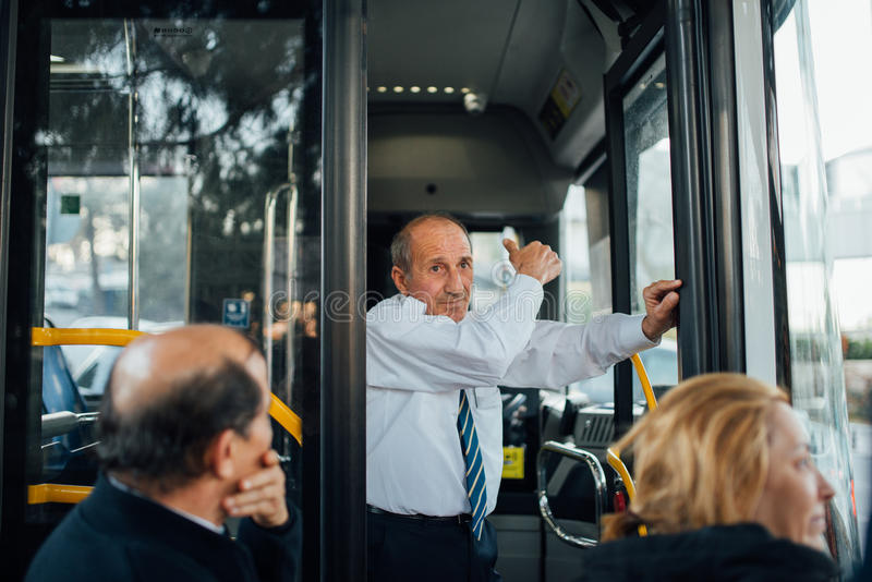 Turkish bus driver stock photography