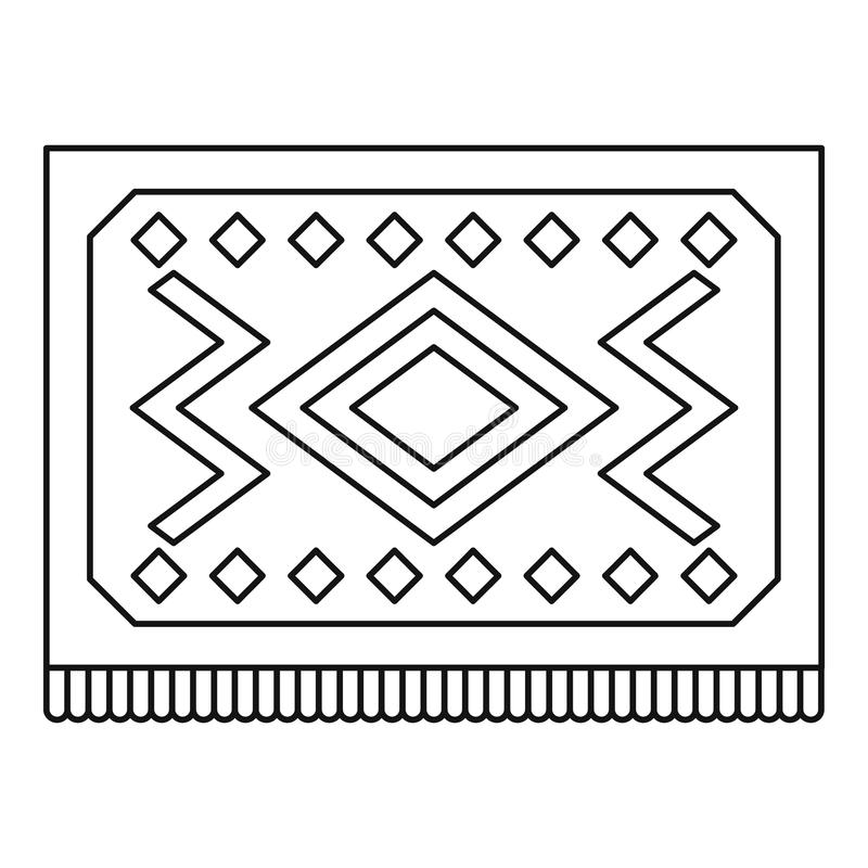 Download Turkish Carpet With Geometric Pattern Icon Stock Vector