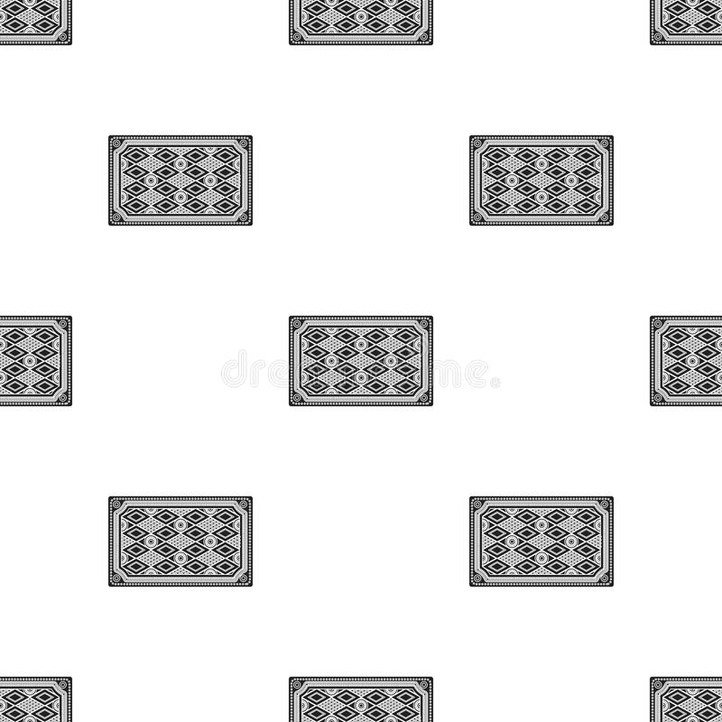 Turkish Carpet Icon In Black Style Isolated On White Background Turkey Pattern Vector Illustration
