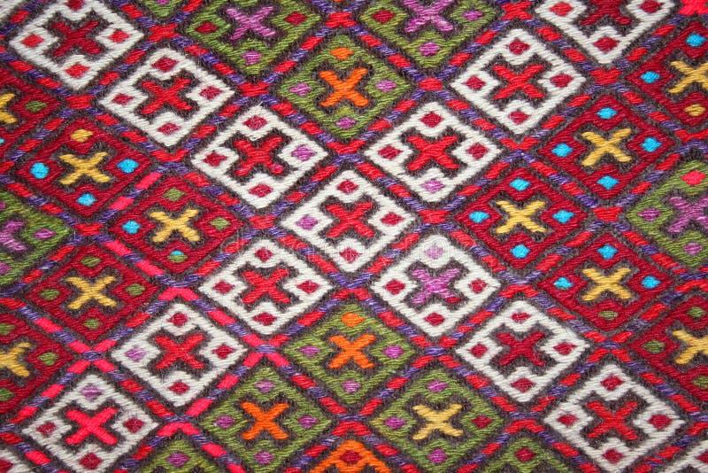 Turkish carpet with pattern stock photo