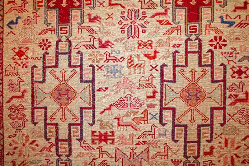 Turkish carpet with pattern stock image