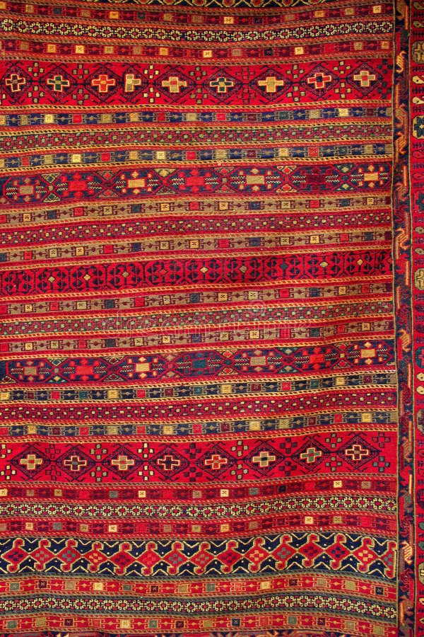 Turkish carpet with pattern royalty free stock photography