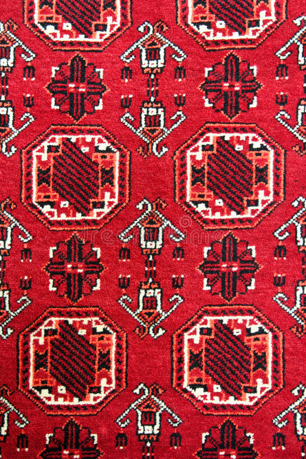 Turkish carpet with pattern royalty free stock photo