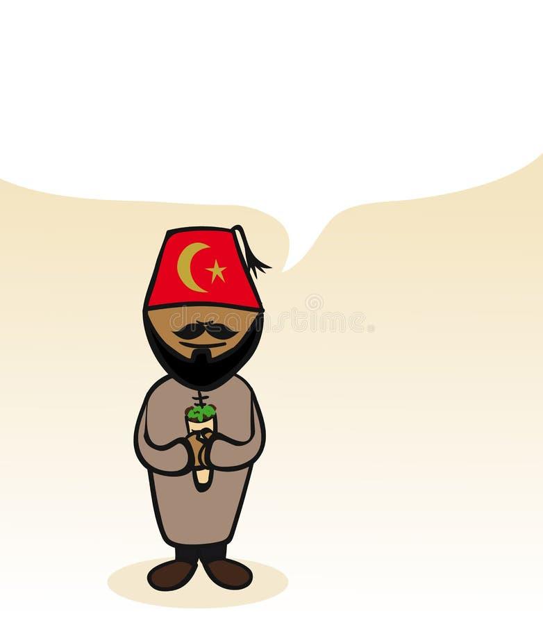 Turkish cartoon person social bubble stock illustration