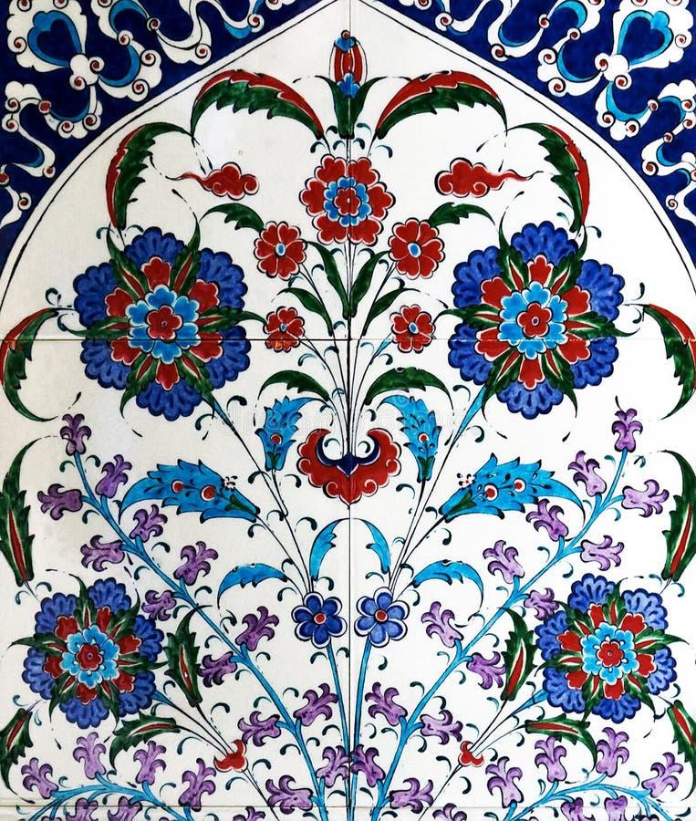 Turkish ceramic tiles royalty free stock photo