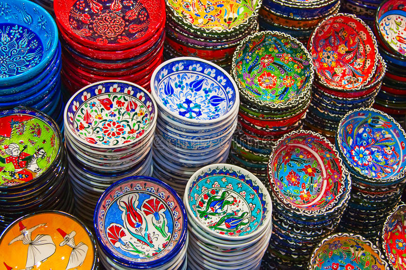 Turkish ceramics royalty free stock images