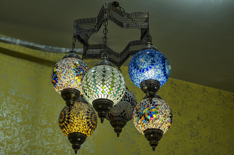 Turkish chandelier royalty free stock photos