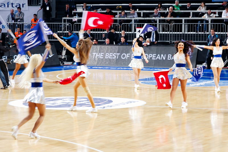 Download Turkish cheerleaders editorial stock photo. Image of game - 18210078