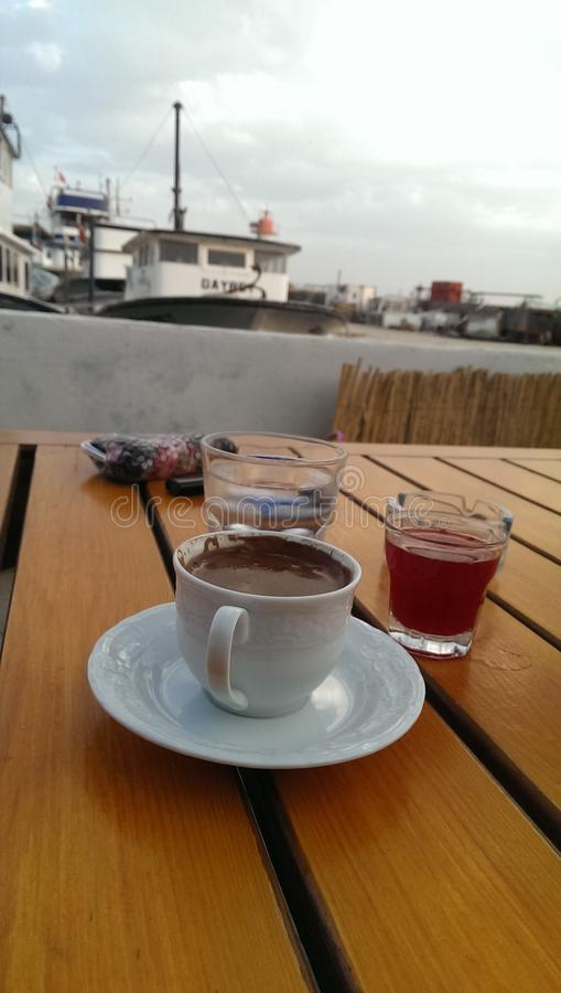 Turkish coffe stock image