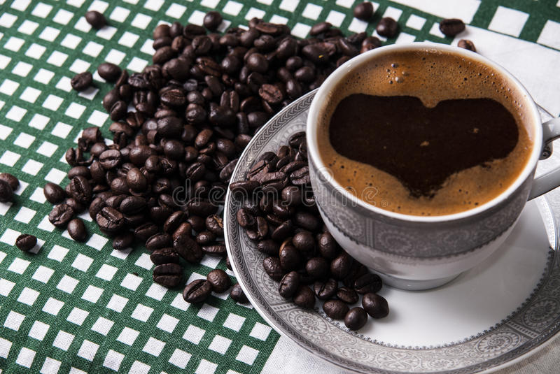 Download Turkish coffee stock photo. Image of drink, above, crop - 29448594