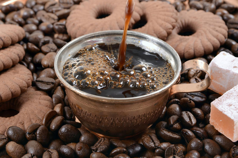 Turkish coffee cup royalty free stock photography