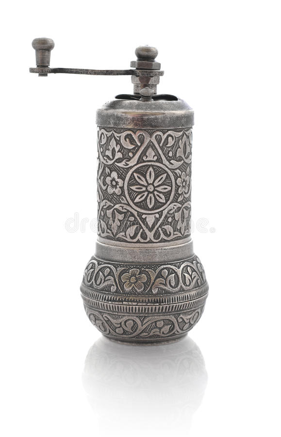 Turkish coffee grinder. Isolated on a white background stock photography