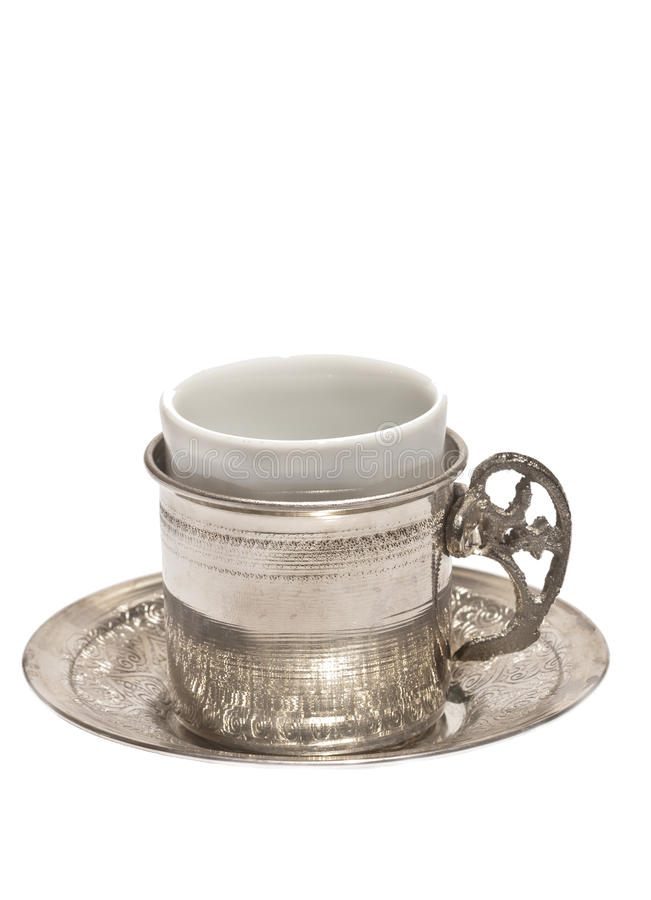 Turkish Coffee mug stock photo