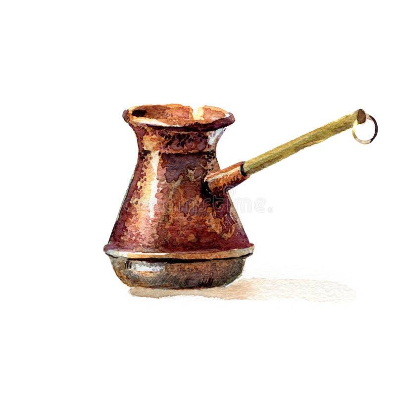 Turkish coffee pot royalty free illustration