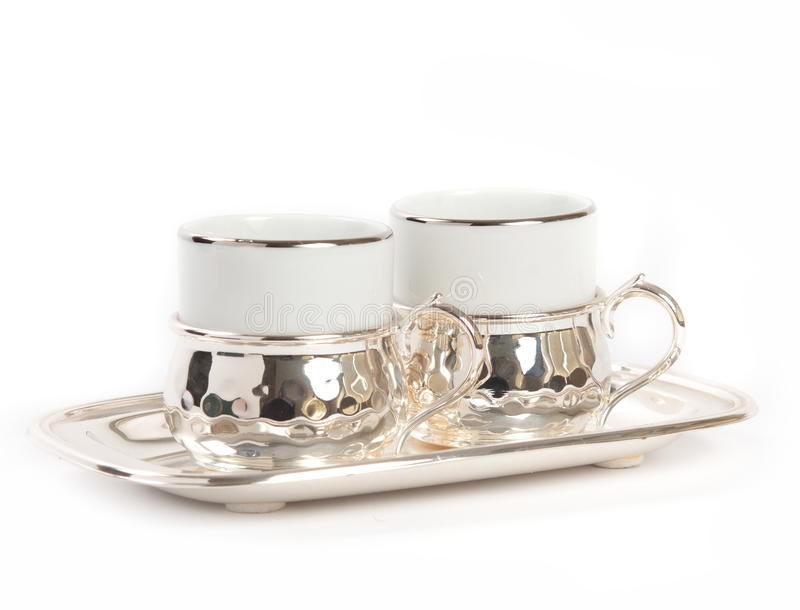 Turkish coffeee mugs royalty free stock image