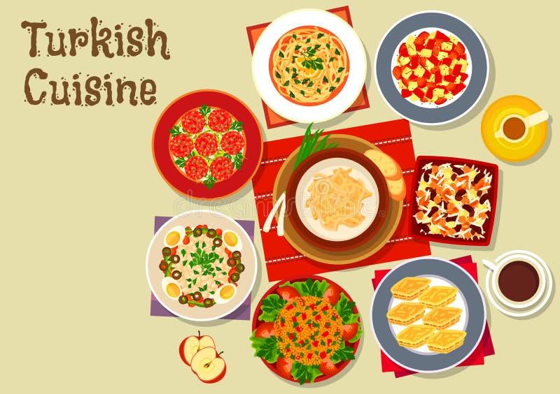 Turkish cuisine dishes for festive dinner icon stock vector download turkish cuisine dishes for festive dinner icon stock vector illustration of design dessert forumfinder Choice Image