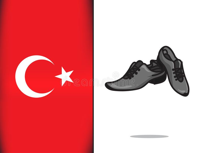 Turkish culture for Shoes icon royalty free illustration