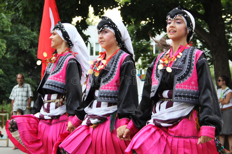 Turkish dancers royalty free stock photography