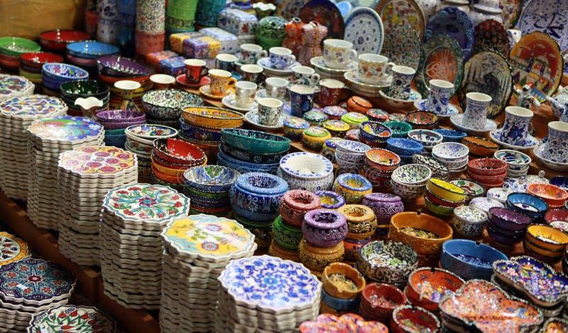 Turkish decorative porcelain object royalty free stock photo