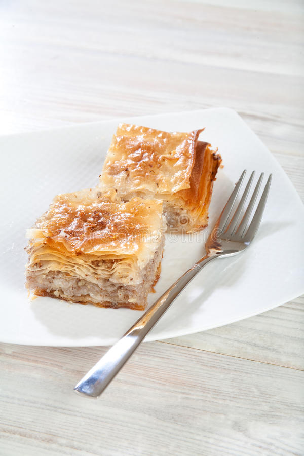 Turkish Delicatessen, Baklava Sweet Royalty Free Stock Photography