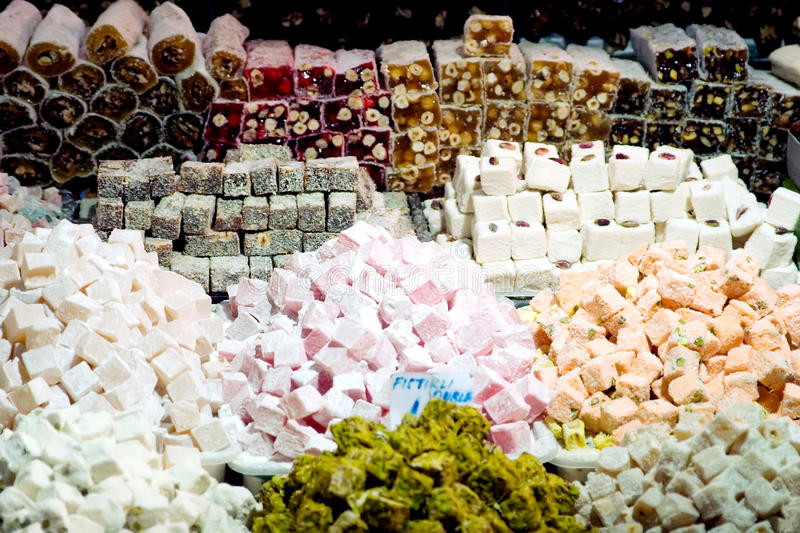 Turkish delight. At the old bazaar stock image