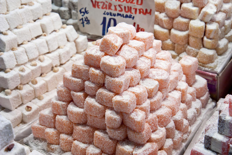 Download Turkish Delight stock photo. Image of sweets, square - 17744298