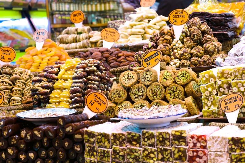 Turkish delight stock photography