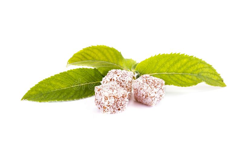 Turkish Delight and Mint royalty free stock photo